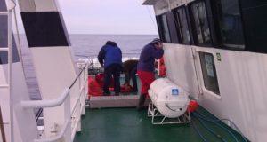 В море, на борту судна.