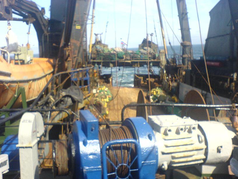 Промысловое вооружение, палуба, промысловая палуба, омуль.