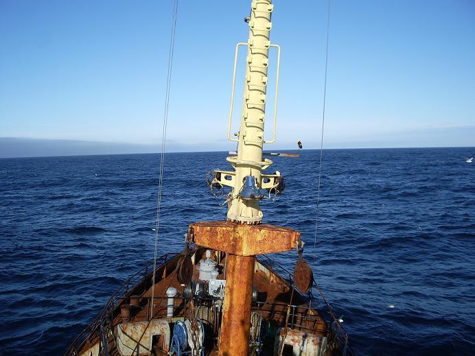 Кормовик, в море, на промысле, сртмк, дальний восток.