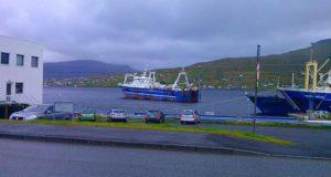 Механик Ковтун в порту рунавик. Фарерские острова.