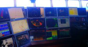 навигационный мостик, рыболовное судно.