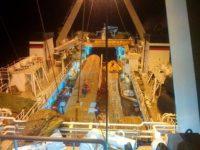 Рыболовное судно. Транспортировка рыбной продукции. Тральщик. Траулер. Корма судна.