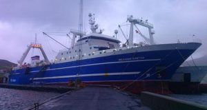 Судно механик ковтун. Порт рунавик. Фарерские острова.