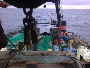 траулер в море, баренцево море, сртмк