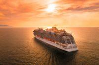 круизы, море, корабль, лайнер.