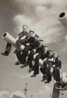 музейный снимок, фото моряков, старое фото.