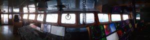 навигационный мостик, эхолоты, гидролокаторы.