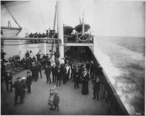 титаник, пассажиры, архивное фото.
